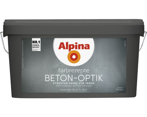 Alpina Farbrezepte Beton-Optik