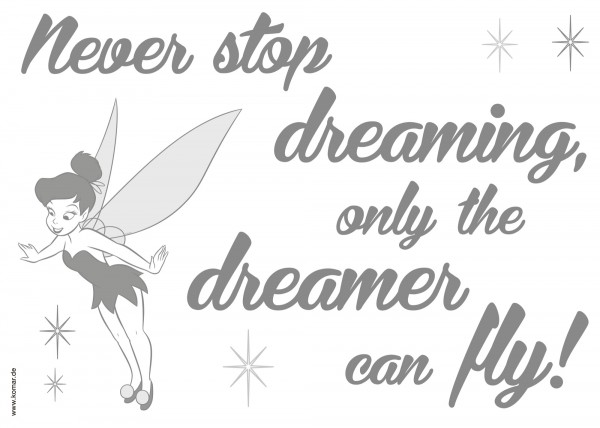 "Deco-Sticker "" Never stop dreaming"""