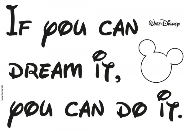 """Deco-Sticker """"You can do it"""""""