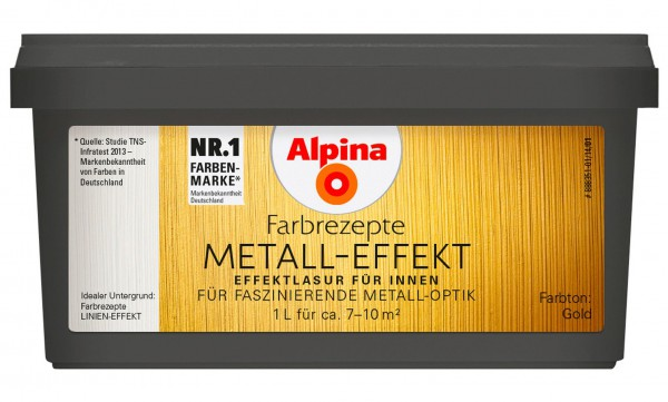 Alpina Metall-Effekt Gold 1 L